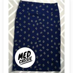 Lularoe Medium Cassie Pencil Skirt Floral